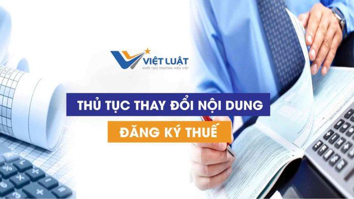 Dịch vụ Thay đổi nội dung đăng ký thuế