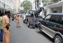 Cảnh sát giao thông xử lý vi phạm