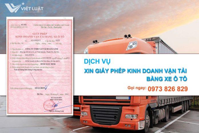 Dịch vụ cấp giấy phép kinh doanh vận tải bằng xe ô tô