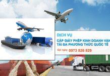 Dịch vụ cấp giấy phép kinh doanh vận tải đa phương thức quốc tế