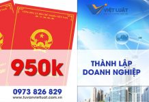 Thành lập công ty giá 950k nhanh, trọn gói tại Việt Luật