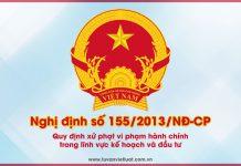 Nghị định số 155/2013/NĐ-CP