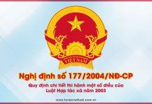 Nghị định số 177/2004/NĐ-CP