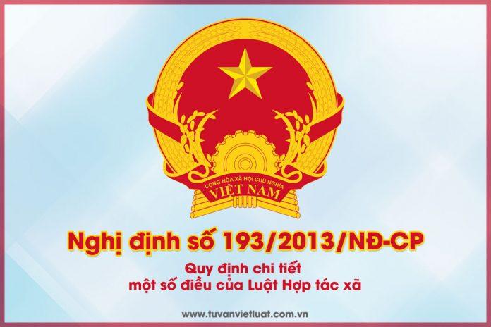 Nghị định số 193/2013/NĐ-CP