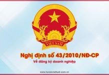 Nghị định số 43/2010/NĐ-CP