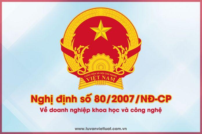 Nghị định số 80/2007/NĐ-CP