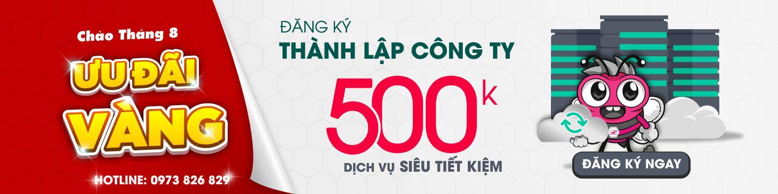 Banner dịch vụ thành lập công ty 500k