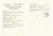 Mẫu giấy chứng nhận đăng ký thành lập công ty TNHH 1 thành viên