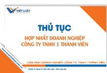 Thủ tục hợp nhất công ty TNHH 1 thành viên