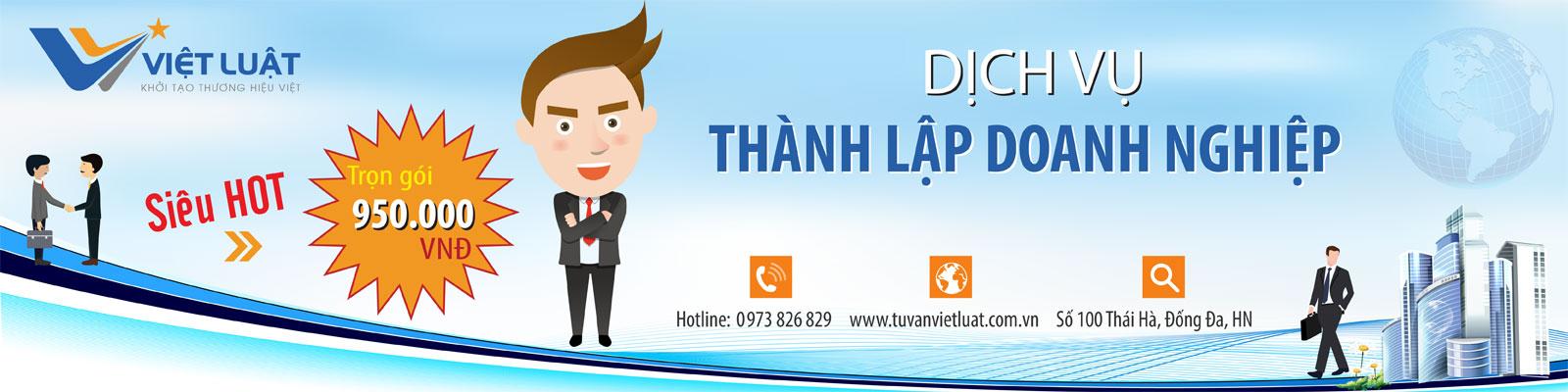 Banner dịch vụ thành lập doanh nghiệp Việt Luật